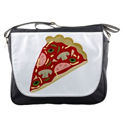 Pizza slice Messenger Bags