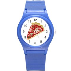 Pizza slice Round Plastic Sport Watch (S)