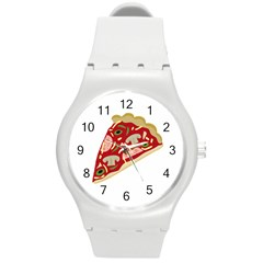Pizza slice Round Plastic Sport Watch (M)