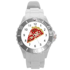 Pizza slice Round Plastic Sport Watch (L)