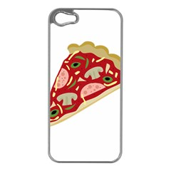 Pizza slice Apple iPhone 5 Case (Silver)