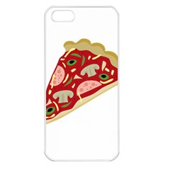 Pizza slice Apple iPhone 5 Seamless Case (White)