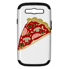 Pizza slice Samsung Galaxy S III Hardshell Case (PC+Silicone)