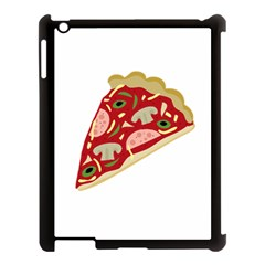 Pizza slice Apple iPad 3/4 Case (Black)