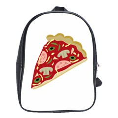 Pizza slice School Bags (XL)