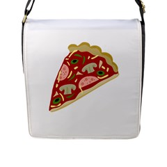 Pizza slice Flap Messenger Bag (L)