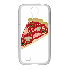 Pizza slice Samsung GALAXY S4 I9500/ I9505 Case (White)
