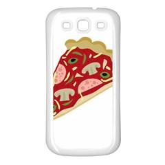Pizza slice Samsung Galaxy S3 Back Case (White)