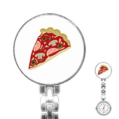 Pizza slice Stainless Steel Nurses Watch