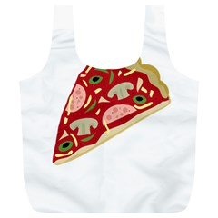 Pizza slice Full Print Recycle Bags (L)
