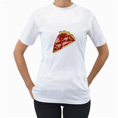 Pizza slice Women s T-Shirt (White)