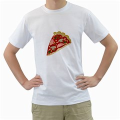 Pizza slice Men s T-Shirt (White)