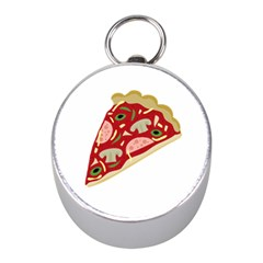 Pizza slice Mini Silver Compasses