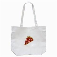 Pizza slice Tote Bag (White)