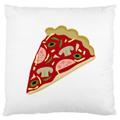 Pizza slice Standard Flano Cushion Case (One Side)