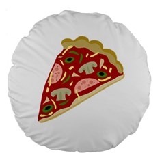 Pizza slice Large 18  Premium Flano Round Cushions