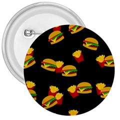 Hamburgers and french fries pattern 3  Buttons