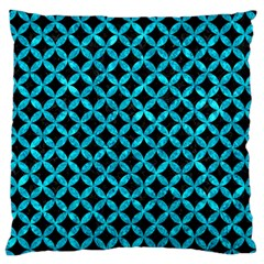 Circles3 Black Marble & Turquoise Marble Standard Flano Cushion Case (one Side)