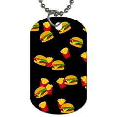 Hamburgers and french fries pattern Dog Tag (Two Sides)