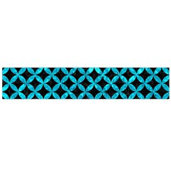Circles3 Black Marble & Turquoise Marble Flano Scarf (large)