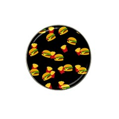 Hamburgers and french fries pattern Hat Clip Ball Marker (10 pack)