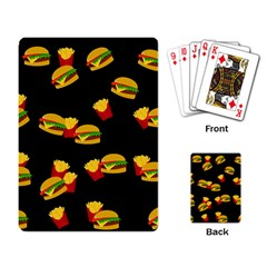 Hamburgers and french fries pattern Playing Card