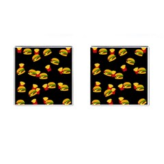 Hamburgers and french fries pattern Cufflinks (Square)