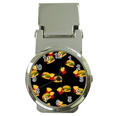 Hamburgers and french fries pattern Money Clip Watches