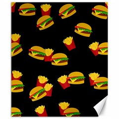 Hamburgers and french fries pattern Canvas 8  x 10