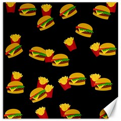 Hamburgers and french fries pattern Canvas 16  x 16