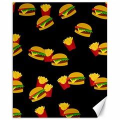 Hamburgers and french fries pattern Canvas 16  x 20