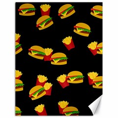 Hamburgers and french fries pattern Canvas 18  x 24