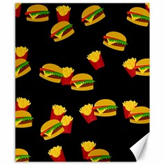 Hamburgers and french fries pattern Canvas 20  x 24