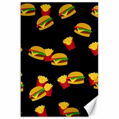 Hamburgers and french fries pattern Canvas 20  x 30