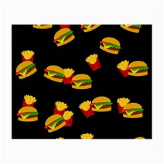 Hamburgers and french fries pattern Small Glasses Cloth (2-Side)
