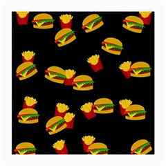 Hamburgers and french fries pattern Medium Glasses Cloth (2-Side)