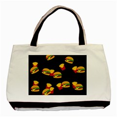 Hamburgers and french fries pattern Basic Tote Bag (Two Sides)