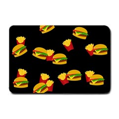 Hamburgers and french fries pattern Small Doormat