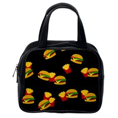 Hamburgers and french fries pattern Classic Handbags (One Side)