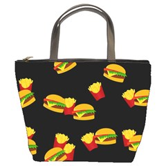 Hamburgers and french fries pattern Bucket Bags