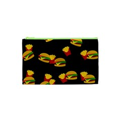 Hamburgers and french fries pattern Cosmetic Bag (XS)