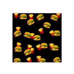 Hamburgers and french fries pattern Satin Bandana Scarf