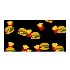 Hamburgers and french fries pattern Satin Wrap