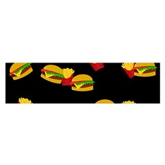 Hamburgers and french fries pattern Satin Scarf (Oblong)