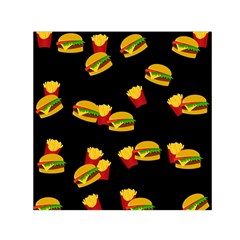 Hamburgers and french fries pattern Small Satin Scarf (Square)