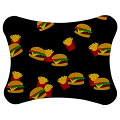 Hamburgers and french fries pattern Jigsaw Puzzle Photo Stand (Bow)