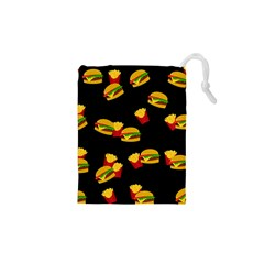 Hamburgers and french fries pattern Drawstring Pouches (XS)