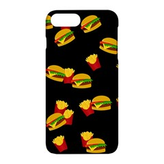 Hamburgers and french fries pattern Apple iPhone 7 Plus Hardshell Case