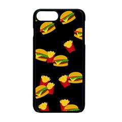 Hamburgers and french fries pattern Apple iPhone 7 Plus Seamless Case (Black)