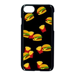 Hamburgers and french fries pattern Apple iPhone 7 Seamless Case (Black)